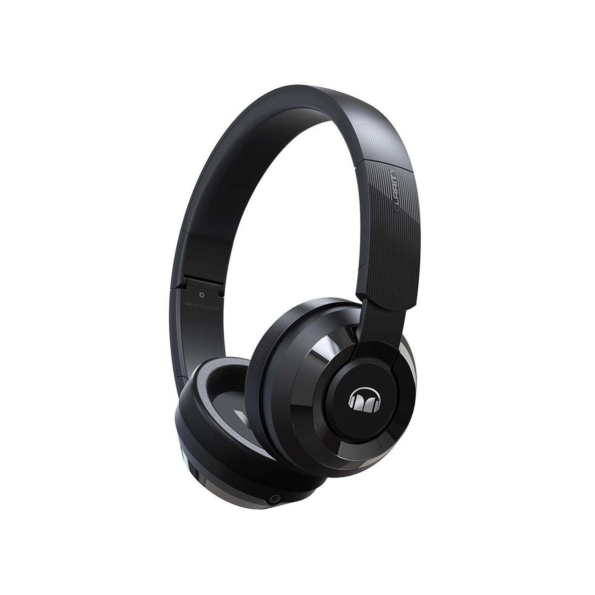 Nauszne słuchawki przewodowe Monster Clarity 100 czarne - outlet - GLO 98135